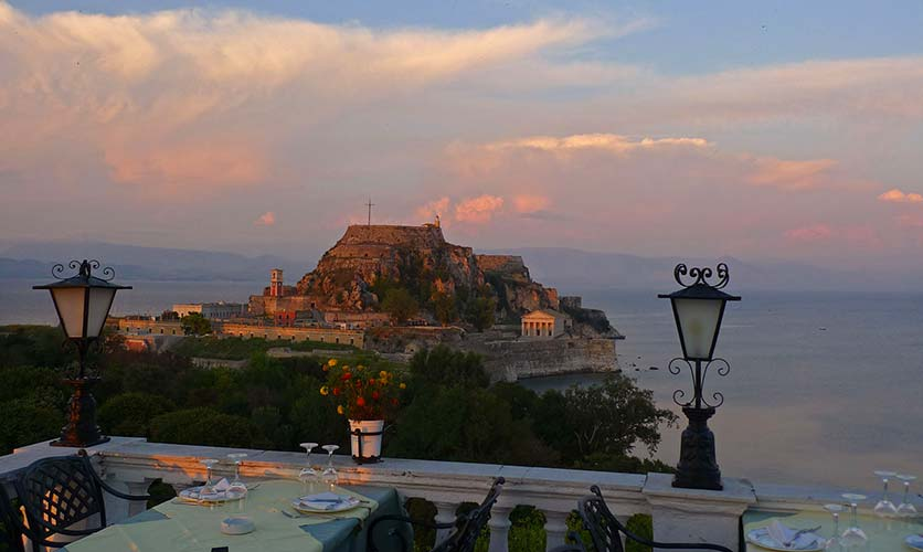 Sunset in Corfu - Corfu Town Hotel